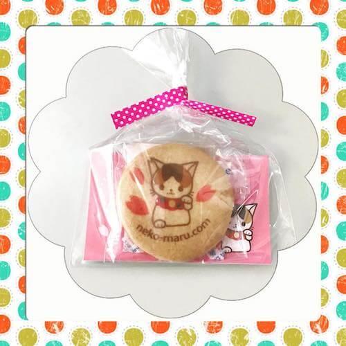 可愛いラッピングで個包装された「さくらねこクッキー」