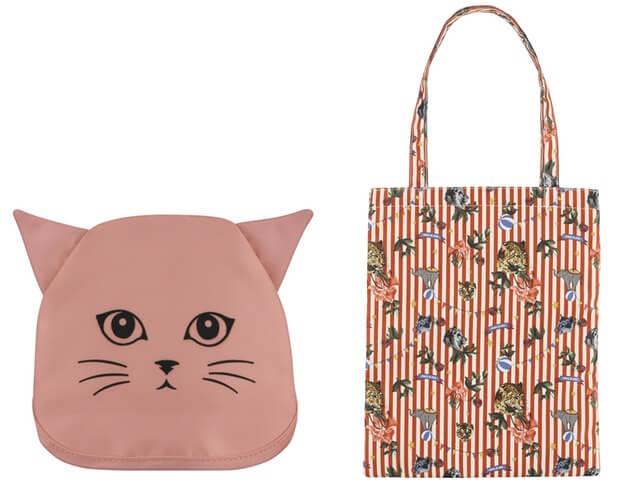 開くとトートバッグに変身するオリジナル猫グッズ(サーカス)