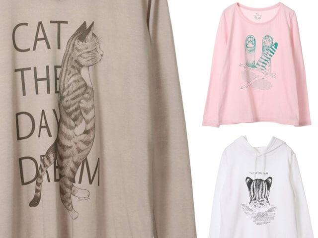 猫のTシャツ&パーカー、アーティストD[di:]の新作コラボアイテム