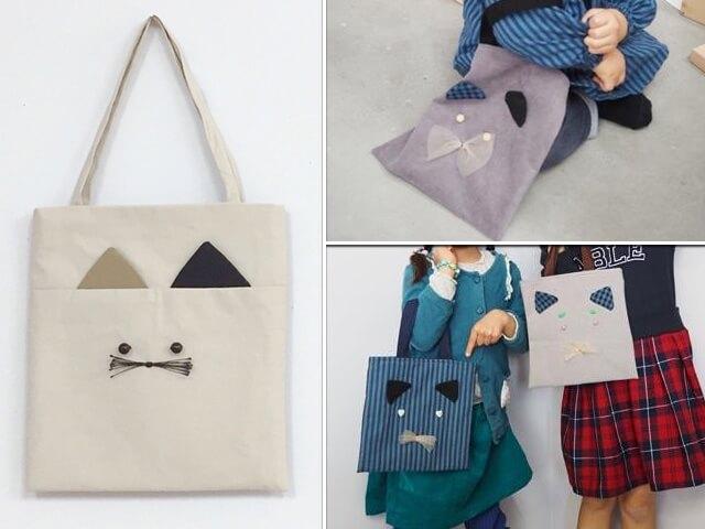 吉祥寺の紙製品専門店で可愛い猫バッグのワークショップが開催