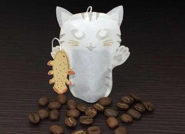 深海パン職人、猫のコーヒーバッグ