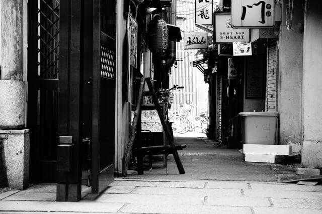 露天神社/お初天神の裏路地