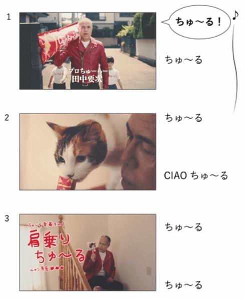 田中要次さんが出演するCIAOちゅ~るのCM映像1