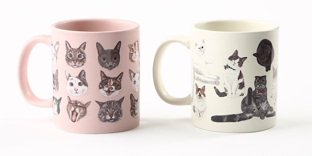 3COINSの「きゅんネコ」マグカップ