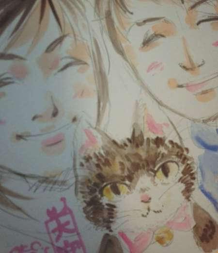 白神恭子さんによる、ねこちゃんとあなたの仲良し似顔絵制作@招き猫美術館
