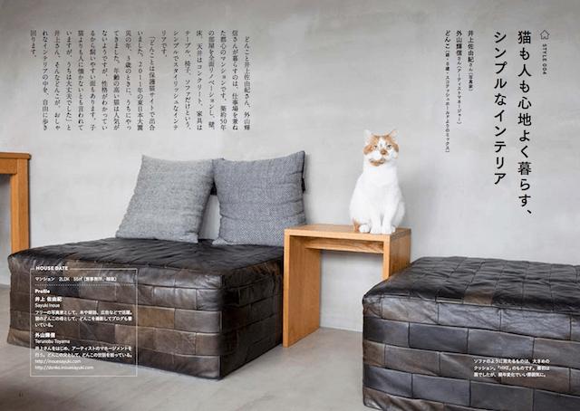 猫と暮らすインテリア実例、写真家の井上佐由紀さんと、アーティストマネージャーの外山輝信さん