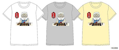 KORIRIがデザインした猫イラストのTシャツ