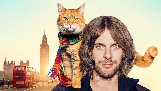 映画、「ボブという名の猫 幸せのハイタッチ」の