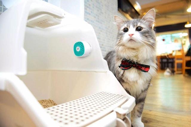 猫トイレの側面に設置できる消臭器VentiFresh(ベンティフレッシュ)