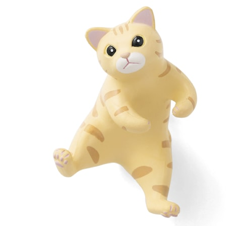 猫の歯ブラシホルダー、茶トラ