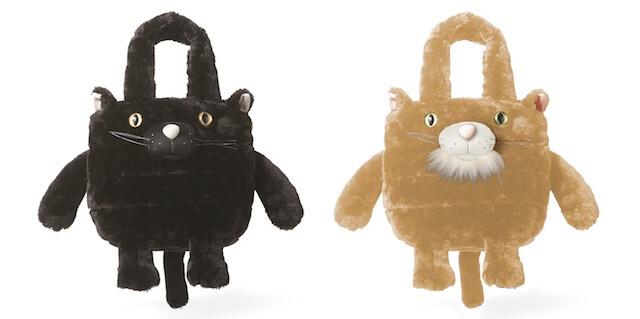 猫トートバッグ、EU.デリ.ZOO-A(黒/ シナモン)