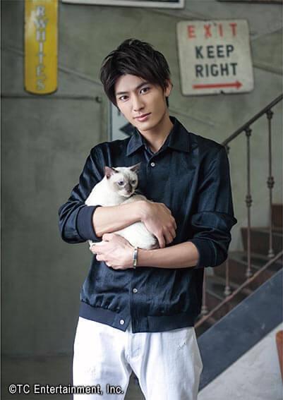 俳優「西川俊介」×猫「トンキニーズ」の写真