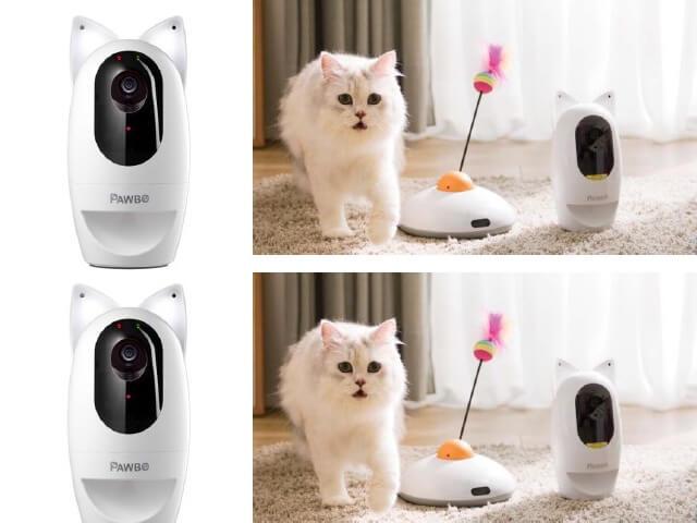 外出先から愛猫と遊べる監視カメラ、パウボプラスに猫耳ライトを搭載