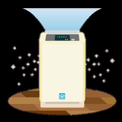 空気清浄機のイメージイラスト
