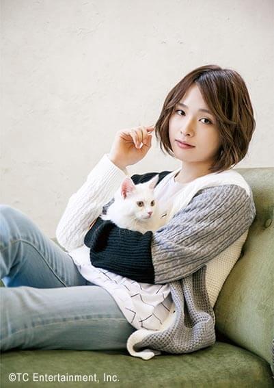 俳優「星元裕月」×猫「マンチカン」の写真