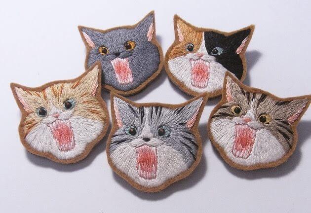 刺繍の猫グッズ by にゃんともニャンズマーケット