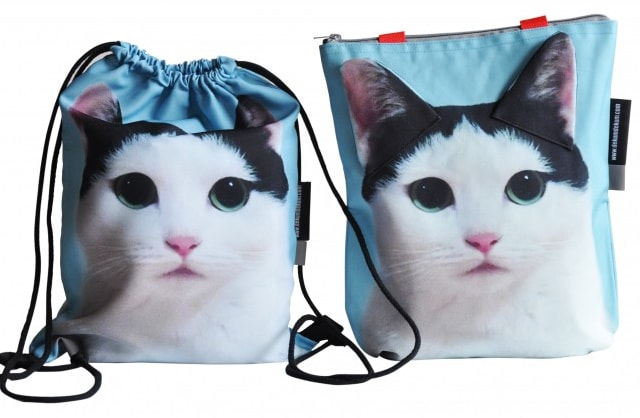 instagramで人気の猫・ヅラねこ「きゅうちゃん」のトートバッグとラックサック