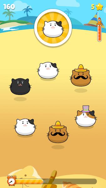猫がどんどん増えていく、ゲームアプリ・ニャンタップ