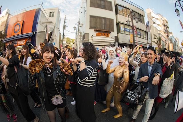 猫にコスプレして参加、神楽坂・化け猫フェスティバルの化け猫パレード