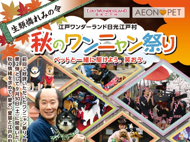 愛猫と江戸の街を散歩できる「秋のワンニャン祭り 生類憐れみの令」