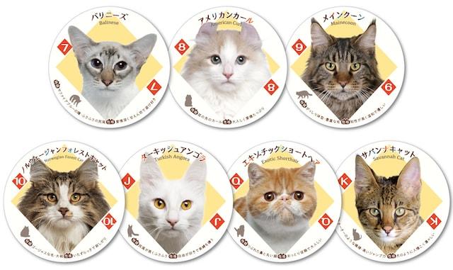 猫がデザインされた「ねこトランプ」のダイヤ柄2