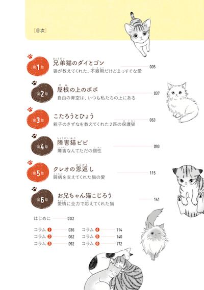 コミックエッセイ「猫が教えてくれたこと」の目次