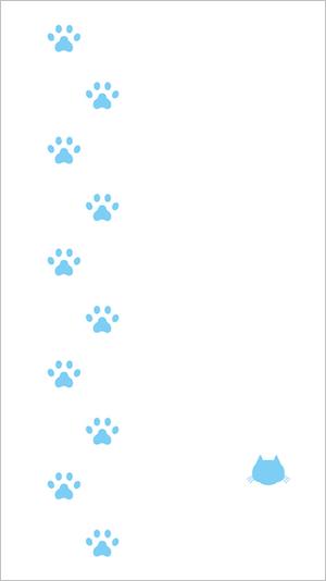 しゅうニャン市、猫のスマートフォン用壁紙2(肉球マーク)