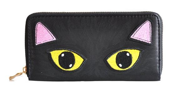 英国のデザイナーKate Gareyが手がける2017年の秋冬新作アイテム「黒猫」のラウンド長財布