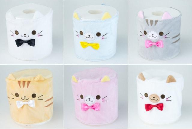 猫のトイレットペーパーカバー全6種類