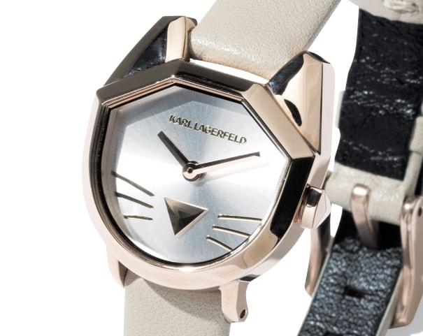 フェイスにセレブ猫のシュペットをかたどった腕時計
