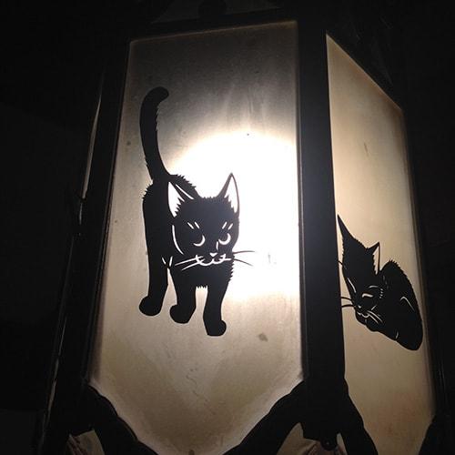 高木亮きりえ展、猫の切り絵作品