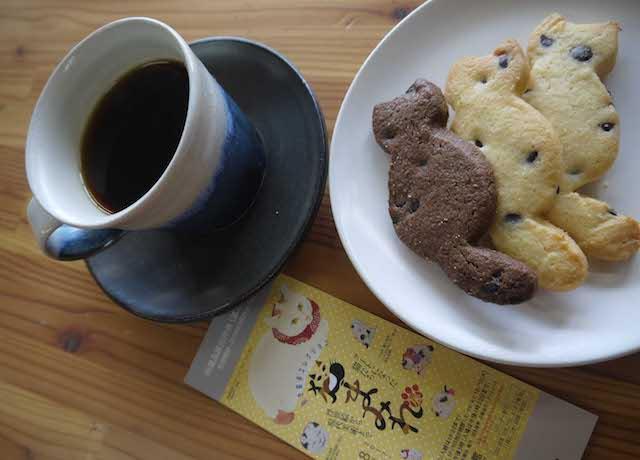 旭川美術館の喫茶コーナーで販売中の猫クッキー