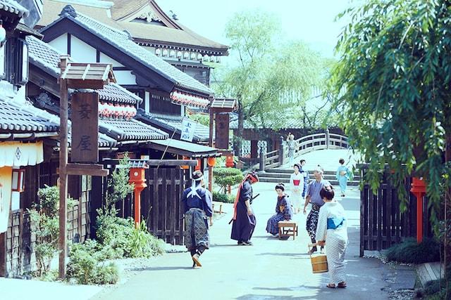 日光江戸村のテーマパーク内