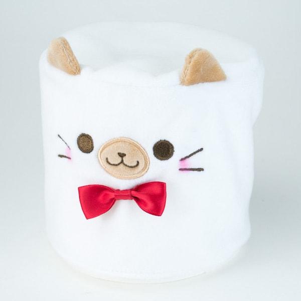 カプセルトイの猫トイレットペーパーカバー、シャム(かぶせるタイプ)