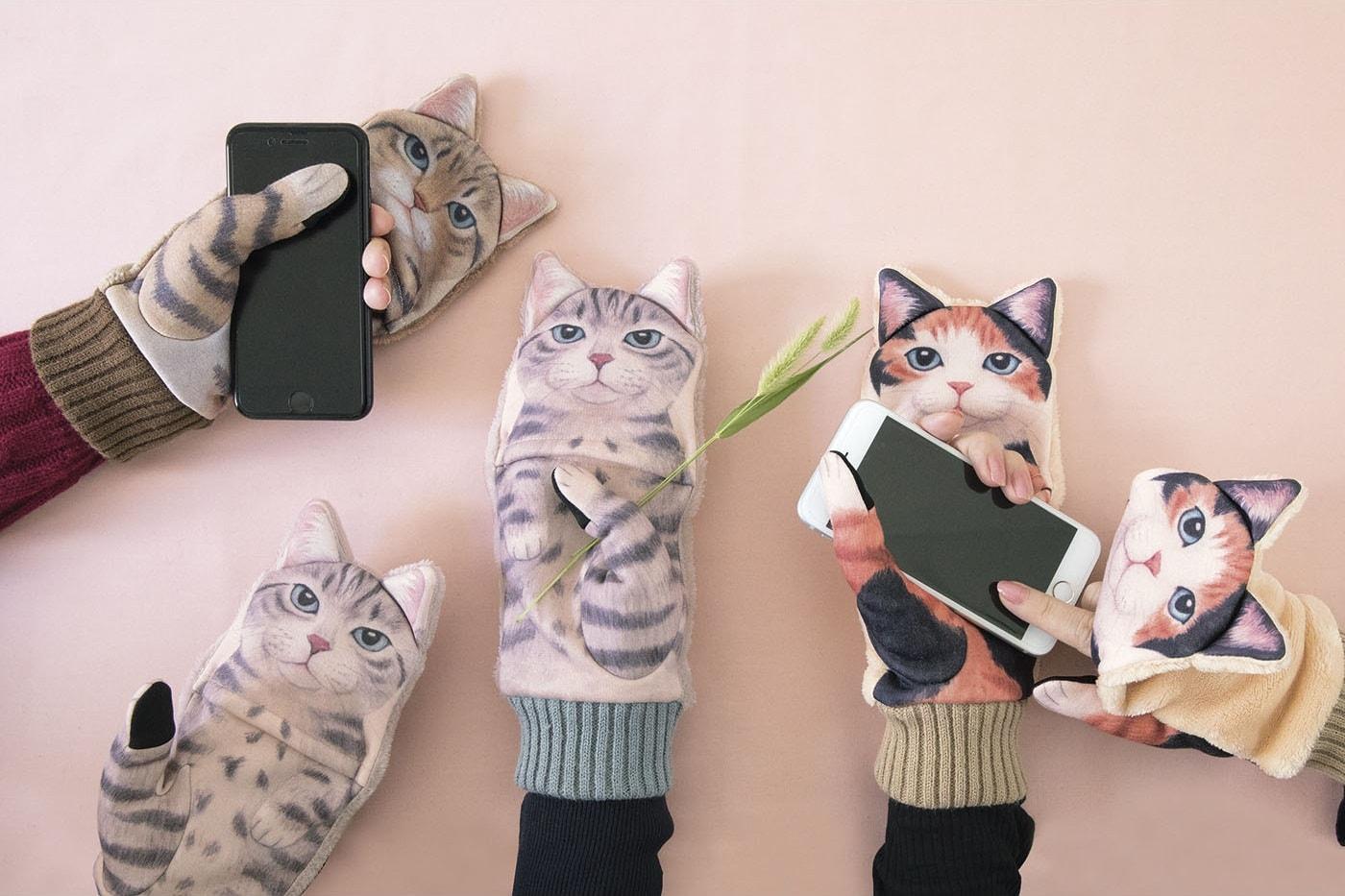 スマートフォン対応 ジャマ猫手袋