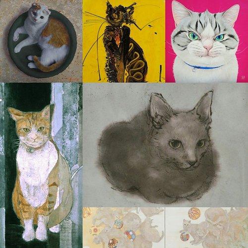 現代作家70名が描く、つくる、吾輩の猫展