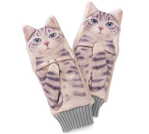 ジャマ猫手袋、「サバトラ」デザイン