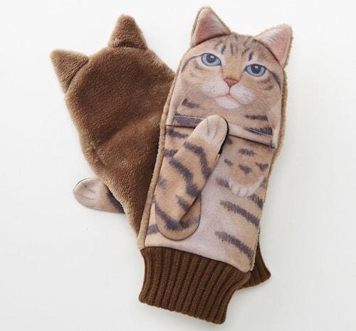 ジャマ猫手袋、「キジトラ」デザイン