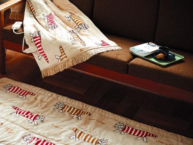 家やオフィスでぬくぬく♪ 猫キャラ「マイキー」の電気毛布が登場
