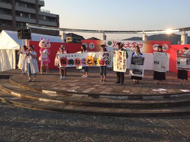 福岡ねこともの会による、市民まつりでの動物愛護啓発活動