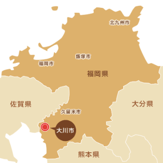 大川市の位置