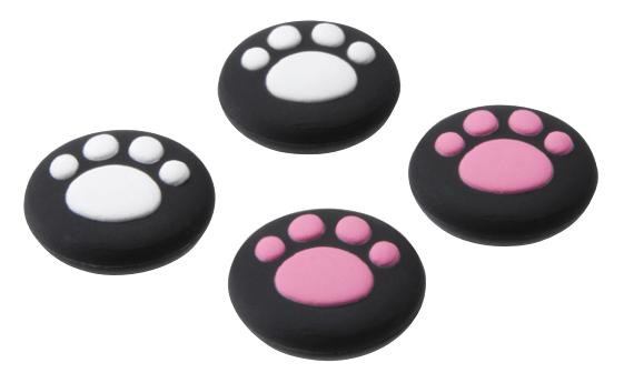 ニンテンドースイッチのジョイコン専用、肉球型ボタンカバーはピンクと白の2色がセット