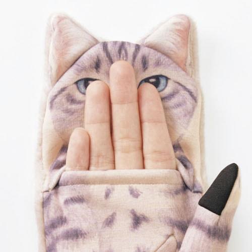 ジャマ猫手袋から指を出したイメージ