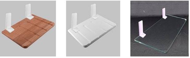 透明キャットステップ「ニャンともウォーク」のセット内容、木製ステップ×2、強化ガラス×1