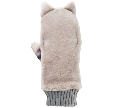 ジャマ猫手袋の手の甲は柔らかいフェイクファー