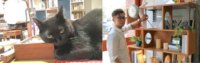建築士の畑山慶さんと黒猫