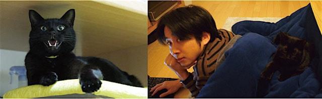 コピーライターの梅田さんと黒猫