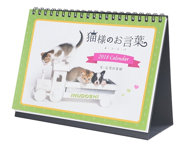 志茂田景樹氏の名言と子猫の写真でおくる2018年の猫カレンダーが登場
