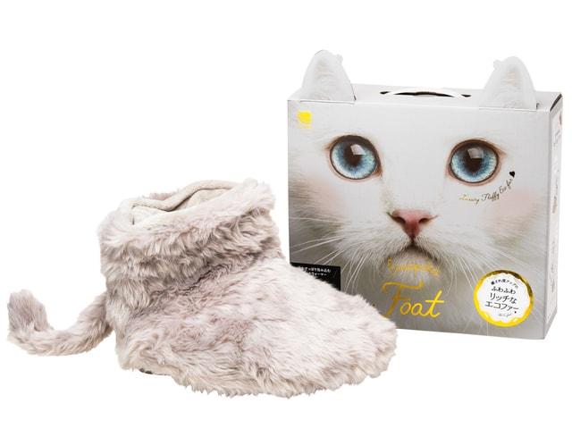 かわいい猫のしっぽ付き電気フットウォーマー「ふわポカ フット」