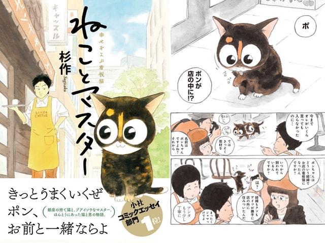 実話を元にした感動コミック「ねことマスター 幸せをよぶ看板猫」